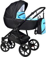 Детская универсальная коляска INDIGO Cross 2 в 1 (Cr 02, голубой) -