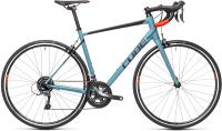 Велосипед Cube Attain 56см 2021 (серый/голубой/красный) -