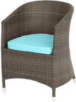 Кресло садовое Mebius Verona V001 / 190328 (кофейный/бирюзовый) -