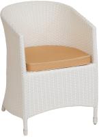 Кресло садовое Mebius Verona V001 / 190329 (белый/бежевый) -