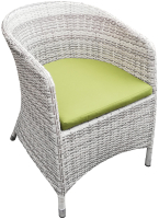 Кресло садовое Mebius Verona V001 / 190330 (меланж/оливковый) -