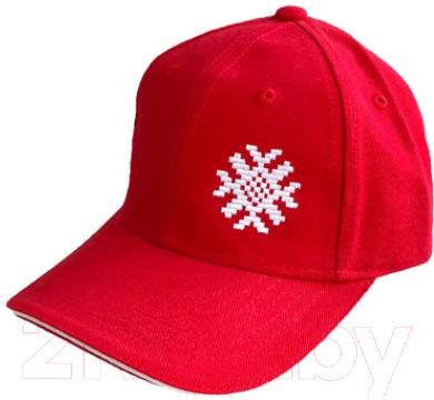 Бейсболка Fainy Ярыла с вышивкой (красный)