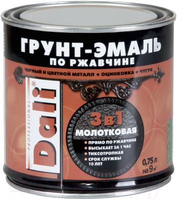 Эмаль DALI Молотковая по ржавчине 3 в 1 (750мл, медный)