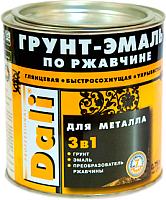 Эмаль DALI По ржавчине 3 в 1 (750мл, винно-красный) -