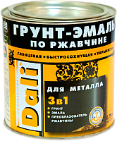 Эмаль DALI По ржавчине 3 в 1 (750мл, серебристый алюминий) -