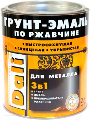 Эмаль DALI По ржавчине 3 в 1 (2л, серебристый алюминий)