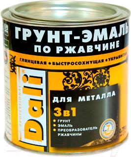 Эмаль DALI По ржавчине 3 в 1 (750мл, красный)