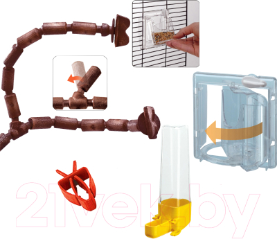 Клетка для птиц Ferplast Giuletta 5 / 52067117