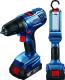 Профессиональная дрель-шуруповерт Bosch GSR 180-LI Plus GLI 18V-300 Professional (0.601.9F8.103) -