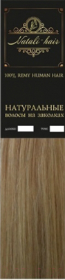 Волосы на заколках Flario Natalihair 4 пряди 55см тон 18 (бежевый блонд)