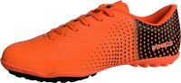 Бутсы футбольные Novus NSB-22 TURF (оранжевый/черный, р-р 43) -