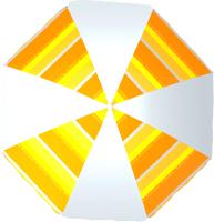 Зонт пляжный Zagorod Z 240 (оранжевый 614) -