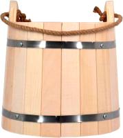 Ведро деревянное Банные Штучки С легким паром / 31096 -