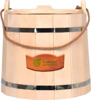 Ведро деревянное Банные Штучки С легким паром / 31099 -