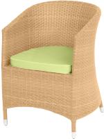 Кресло садовое Mebius Verona V001 / 190241 (кремовый/оливковый) -
