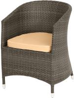 Кресло садовое Mebius Verona V001 / 190242 (кофейный/бежевый) -