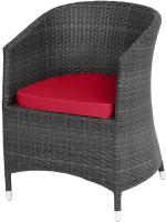 Кресло садовое Mebius Verona V001 / 190243 (черный/красный) -