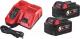 Набор аккумуляторов для электроинструмента Milwaukee M18 NRG-502 / 4933459217 -