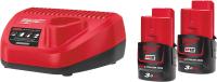 Набор аккумуляторов для электроинструмента Milwaukee M12 NRG-302 / 4933451902 -