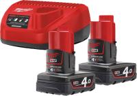 Набор аккумуляторов для электроинструмента Milwaukee M12 NRG-402 / 4933459211 -