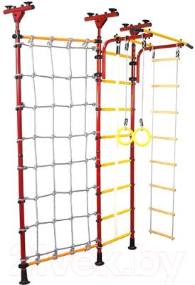 спортивные комплексы юный атлет рукоход лайт с сеткой Детский спортивный комплекс Юный Атлет Пол-потолок с сеткой