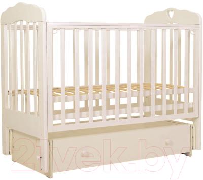 Детская кроватка Топотушки Мария-6 Сердечко / 90