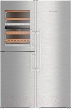 Холодильник с винным шкафом Liebherr SBSes 8496
