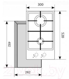 Газовая варочная панель Akpo PGA 302 FGС WH