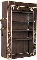 Тканевый шкаф Sheffilton SHT-SR1 / 855432 (темно-коричневый) -