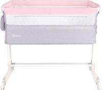 Детская кроватка Lionelo Theo (серый/розовый) -