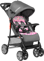 Детская прогулочная коляска Lionelo Emma Plus (серый/розовый) -