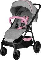 Детская прогулочная коляска Lionelo Natt (серый/розовый) -