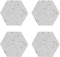 Набор подставок под стаканы Typhoon Elements Hexagona / 1401.042V (4шт) -