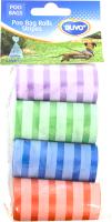 Пакеты для выгула собак Duvo Plus Полоски / 311338/DV (4x20шт, разные цвета) -