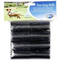 Пакеты для выгула собак Duvo Plus 311340/DV (8x20шт, черный) -