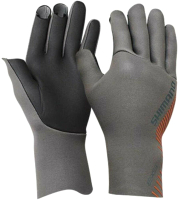 Перчатка для рыбалки Shimano GL-061S / 5YGL061S33 (JP-M, серый) -