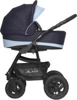 Детская универсальная коляска Riko Alfa 3 в 1 (03/голубой) -