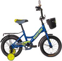 Детский велосипед Black Aqua Fishka 20 KG2027 со светящимися колесами (синий) -