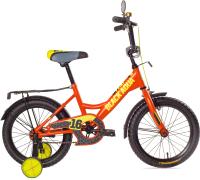 Детский велосипед Black Aqua Fishka 20 KG2027 со светящимися колесами (оранжевый неон) -