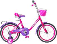 Детский велосипед Black Aqua Princess 20 KG2002 со светящимися колесами (розовый/сиреневый) -