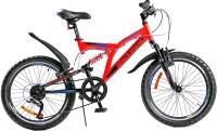 Детский велосипед Black Aqua Mount 1201 V 20 / GL-103V (красный/черный) -