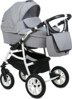 Детская универсальная коляска Alis Berta F 3 в 1 (Be 05, светло-серый) -