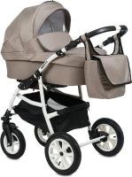 Детская универсальная коляска Alis Berta F 3 в 1 (Be 07, бежевый) -