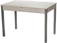Обеденный стол Древпром Амелис М84 110-140x68 (самерсет/опоры квадратные металлик) -