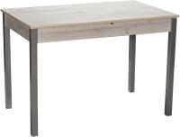 Обеденный стол Древпром Амелис М84 110-140x68 (наоми/опоры квадратные металлик) -