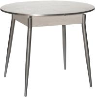 Обеденный стол Древпром Сириус М61 (самерсет/опоры прямые металлик) -