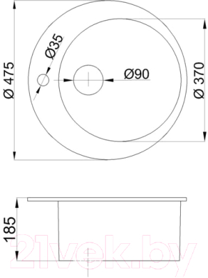 Мойка кухонная БелЭворс Ring (серый)