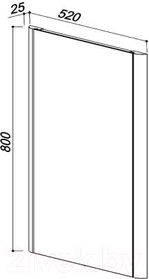 Зеркало Belux Альмерия В60 (138, натуральный массив клен)
