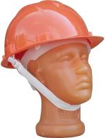 Защитная строительная каска Юнона+ Пластиковое оголовье (оранжевый) -