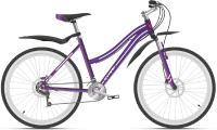 Велосипед STARK Luna 26.2 D 2021 (14.5, фиолетовый/серебристый) -